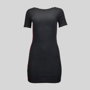 robe-femme-h-et-m-noir-de-seconde-main-de-face