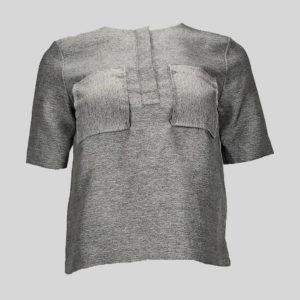 blouse-femme-h-et-m-gris-chiné-de-face