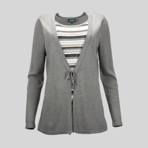 pullover-femme-charles-vogele-gris-de-seconde-main-de-face